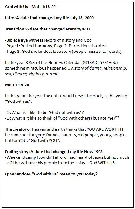 Club Talk Plan for the Gospel of Matthew - YLHelp: Help